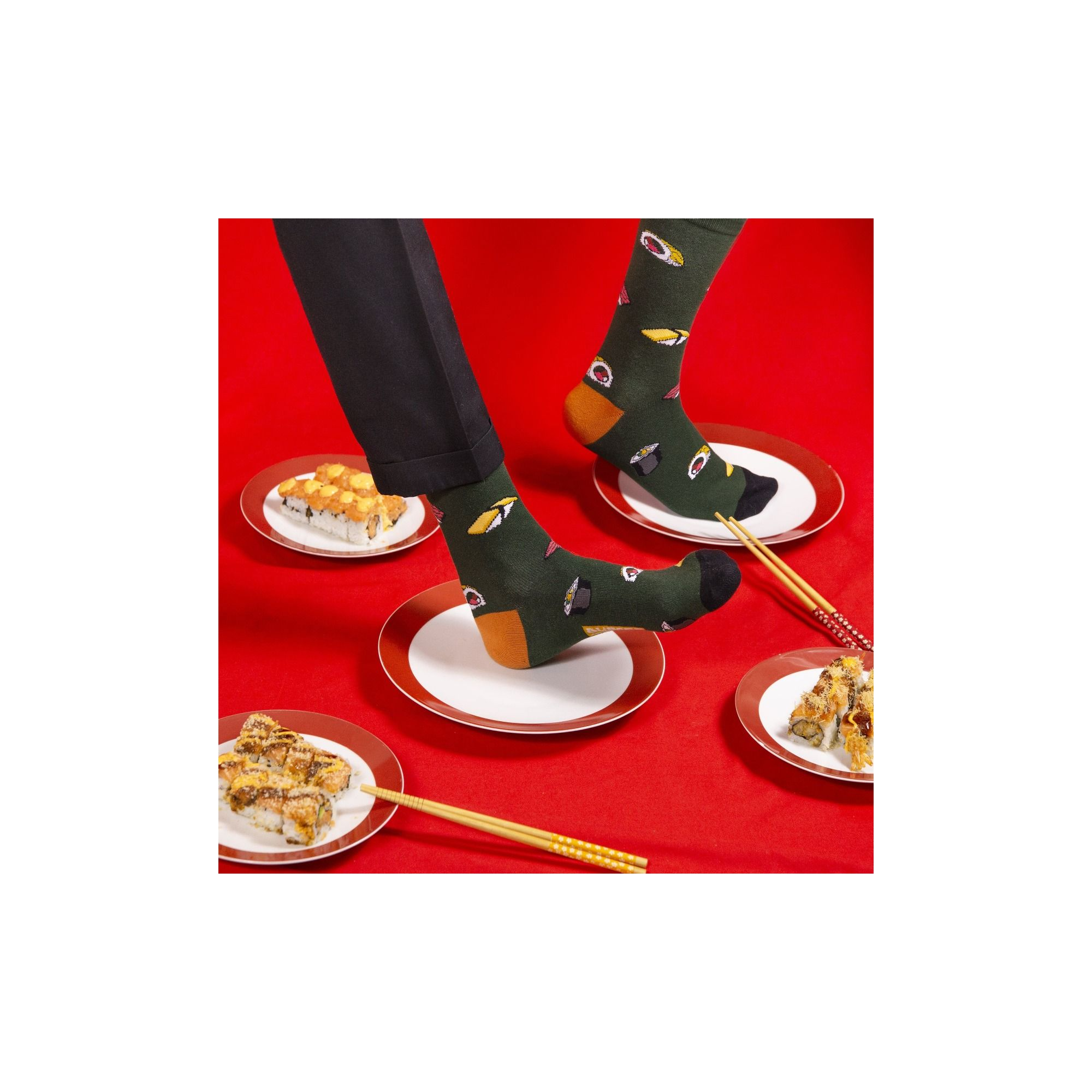 COUNTRY SOCKS SUSHI TIME