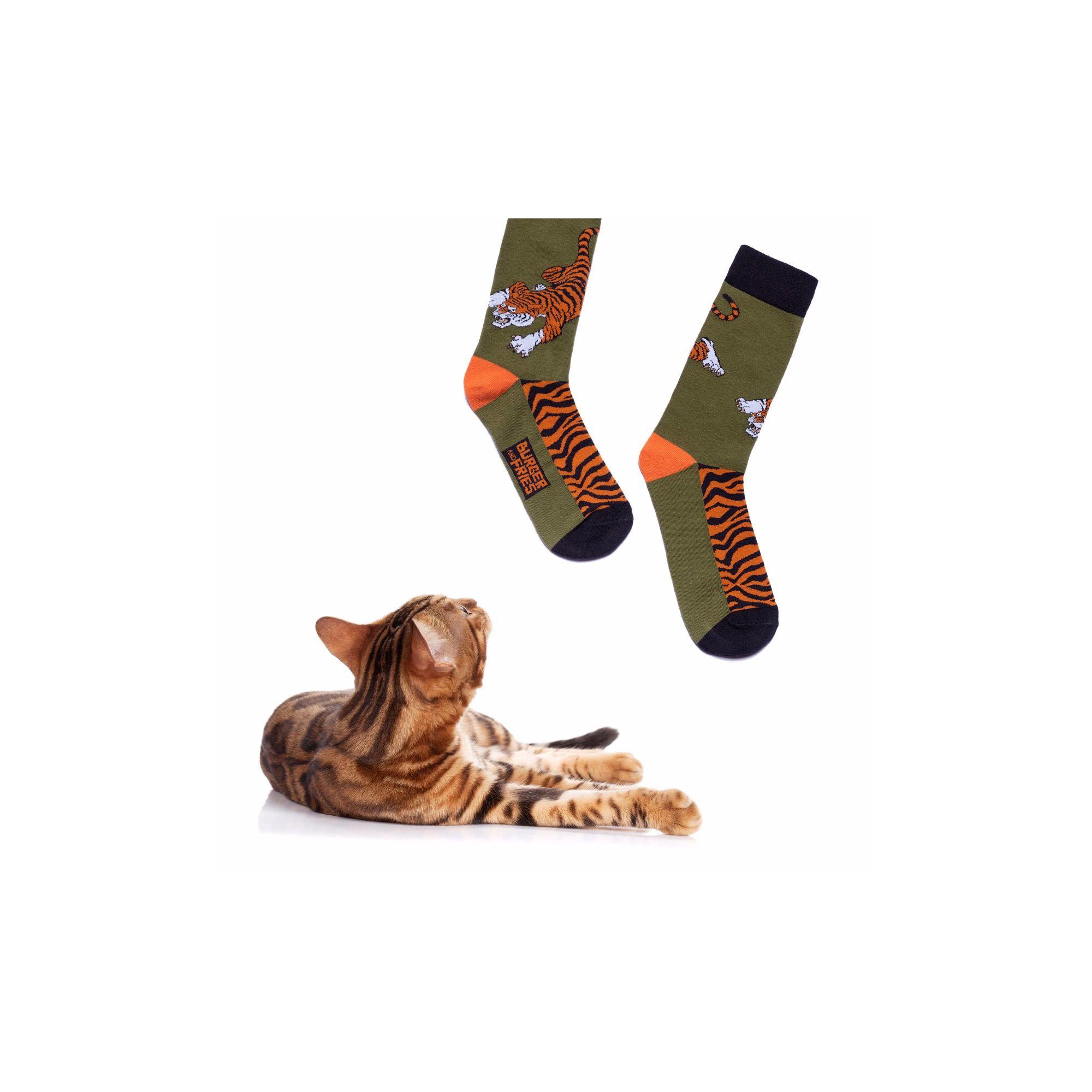 BIG ANIMAL SOCKS EYES OF THE TIGER