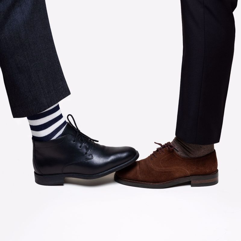 STRIPES SOCKS OFF WHITE/NAVY BLUE