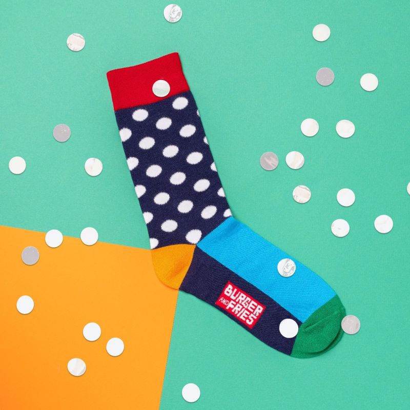 POIS SOCKS NAVY BLUE/OFF WHITE