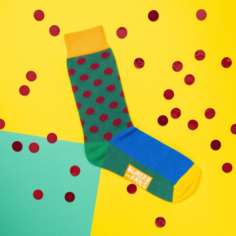 POIS SOCKS DARK GREEN/BORDEAUX
