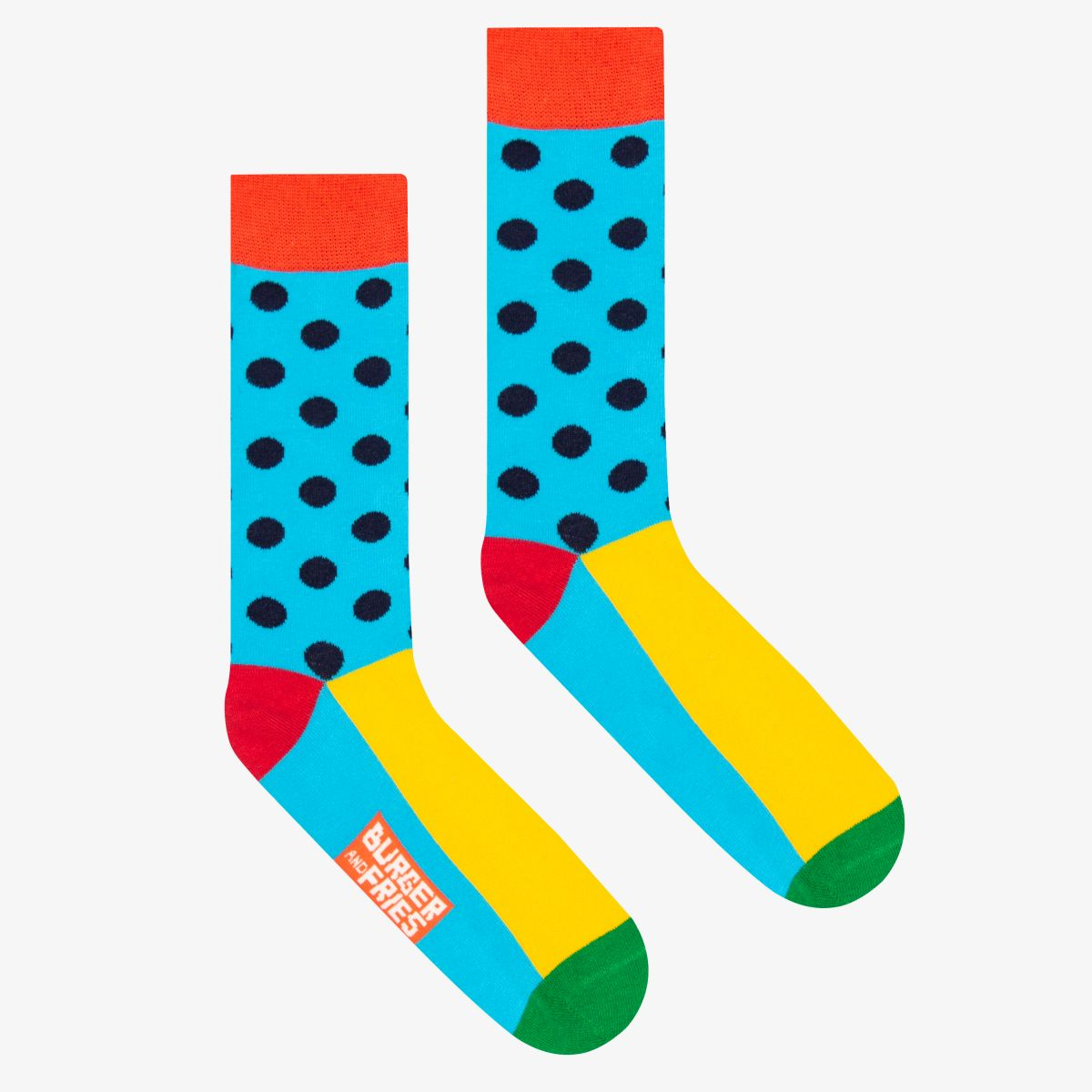POIS SOCKS LIGHT BLUE/NAVY BLUE