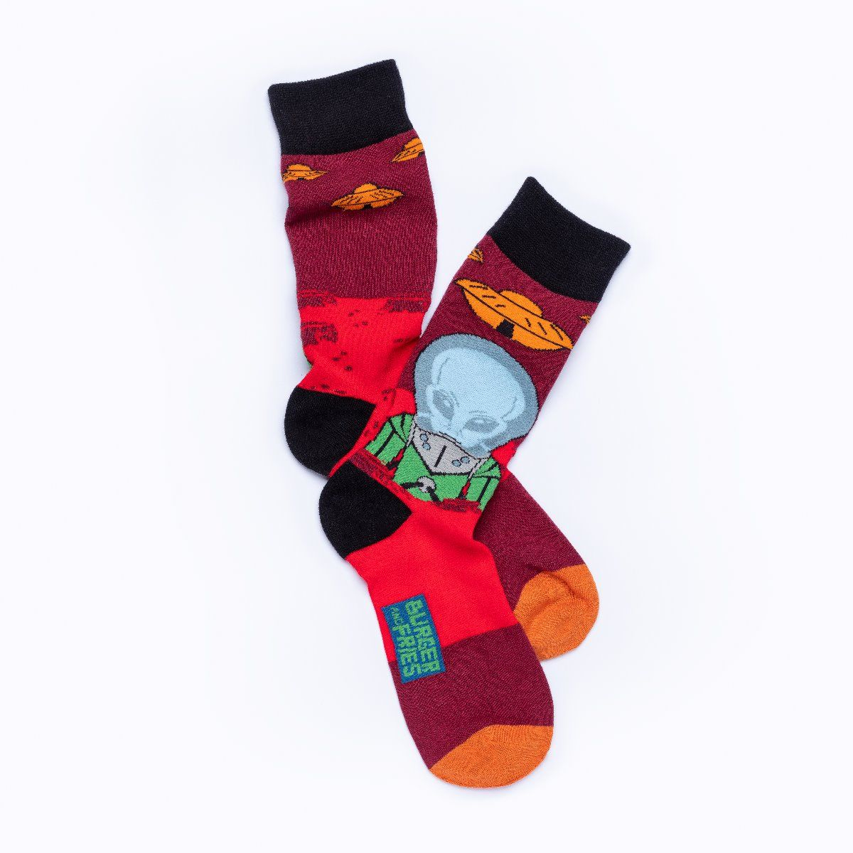 SPACE SOCKS UFO IS MY FRIEND