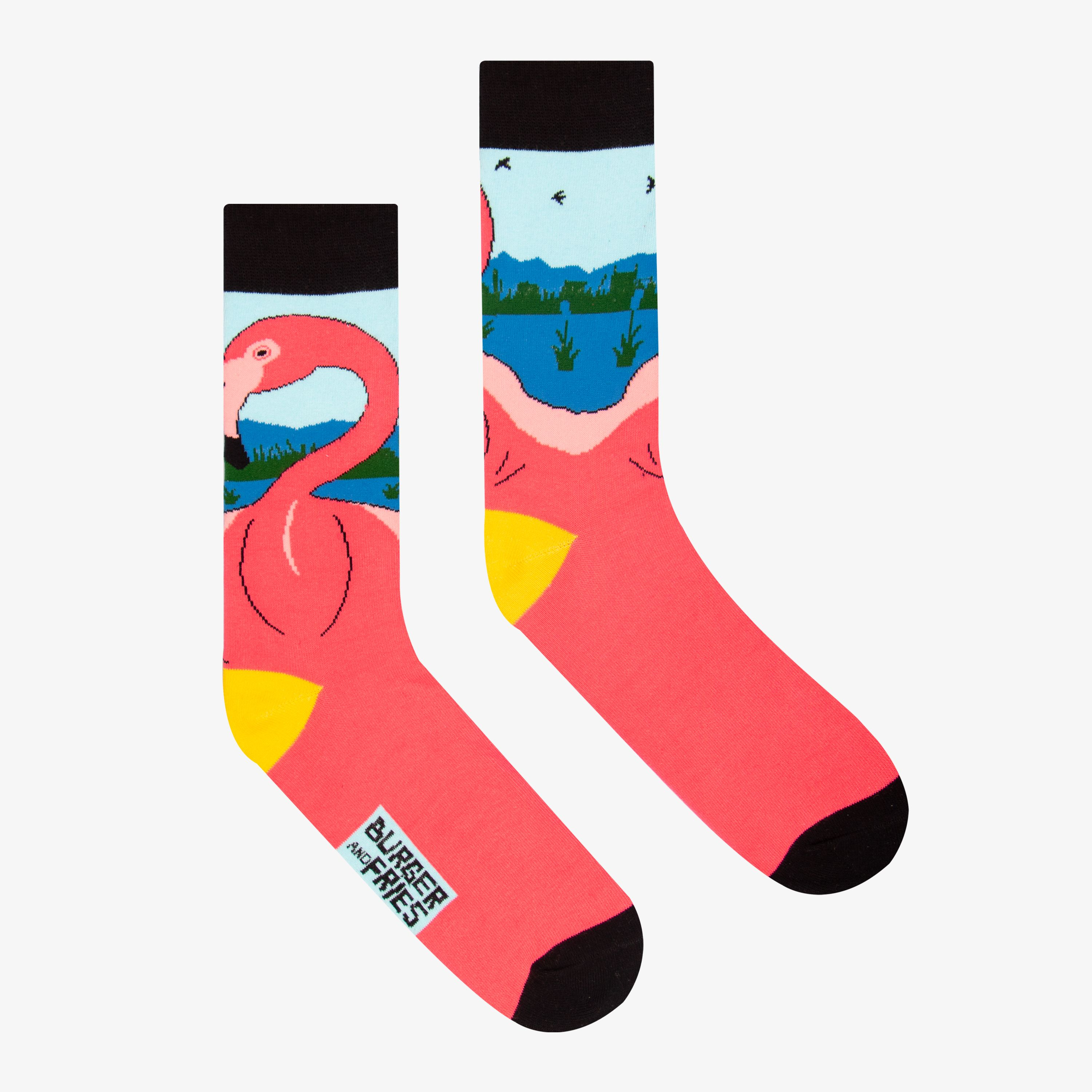 BIG ANIMAL SOCKS FLAMINGO FOR ME