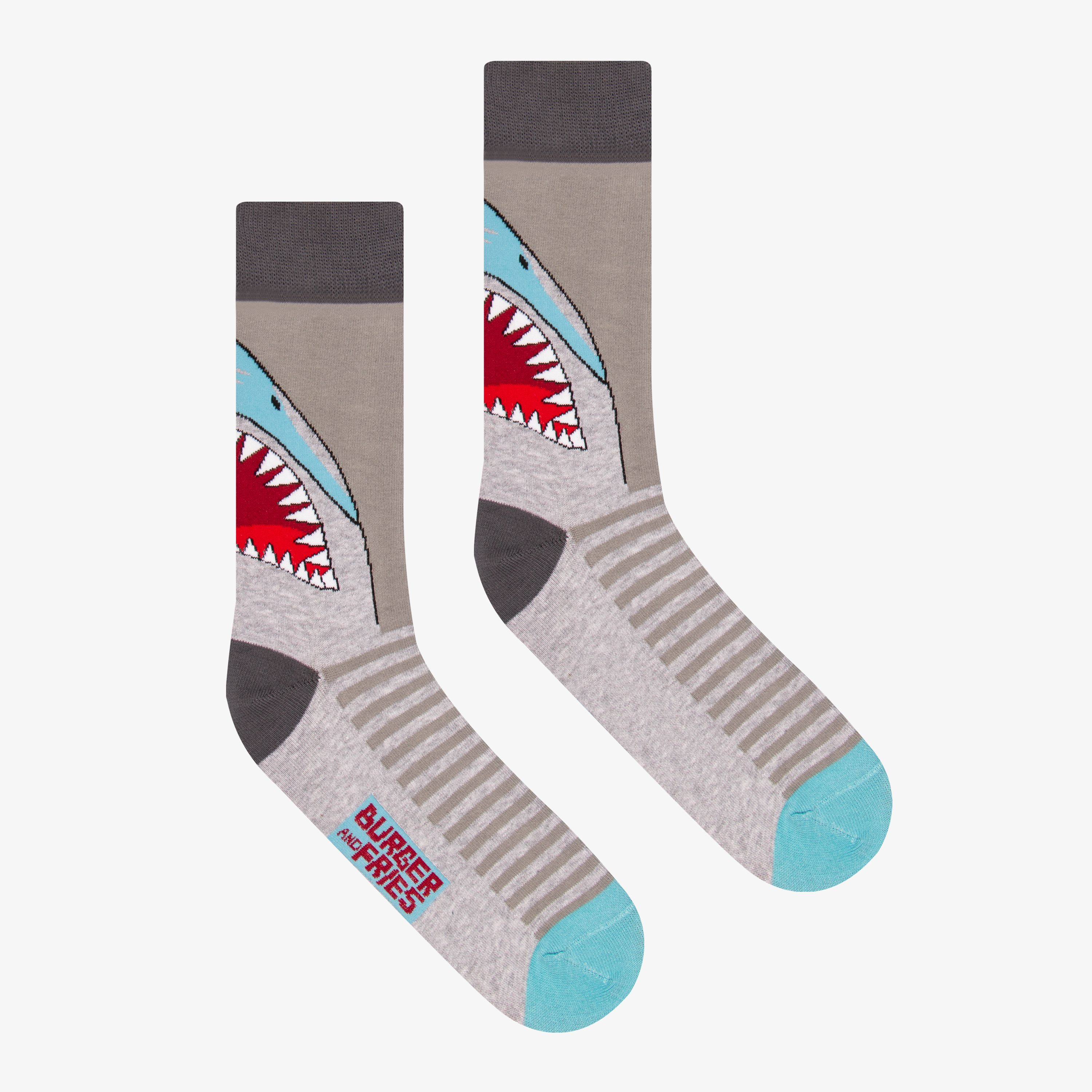BIG ANIMAL SOCKS SHARK ATTACK
