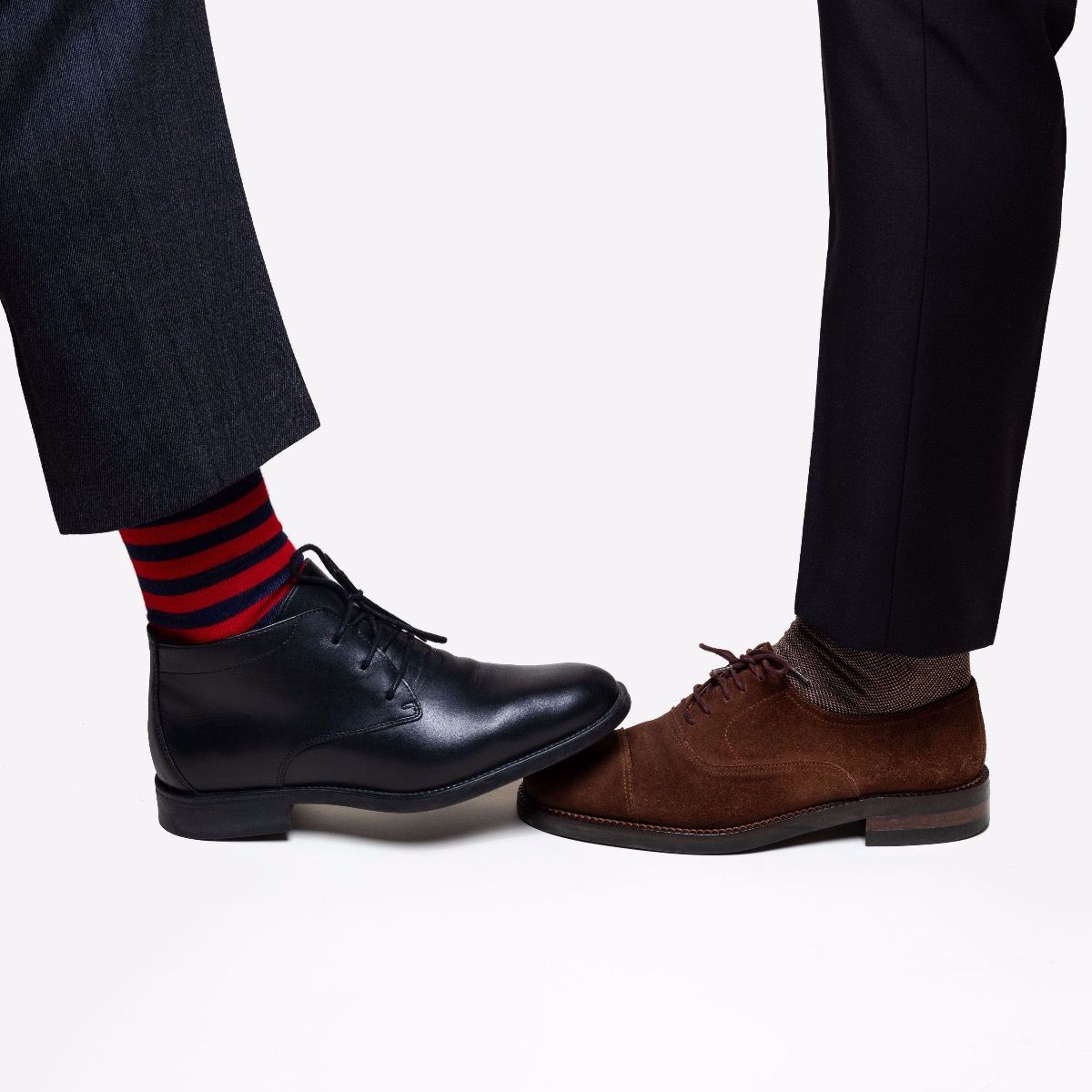 STRIPES SOCKS RED/NAVY BLUE