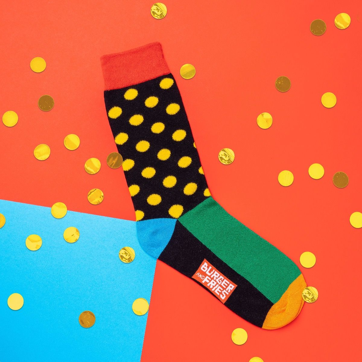 POIS SOCKS BLACK/YELLOW