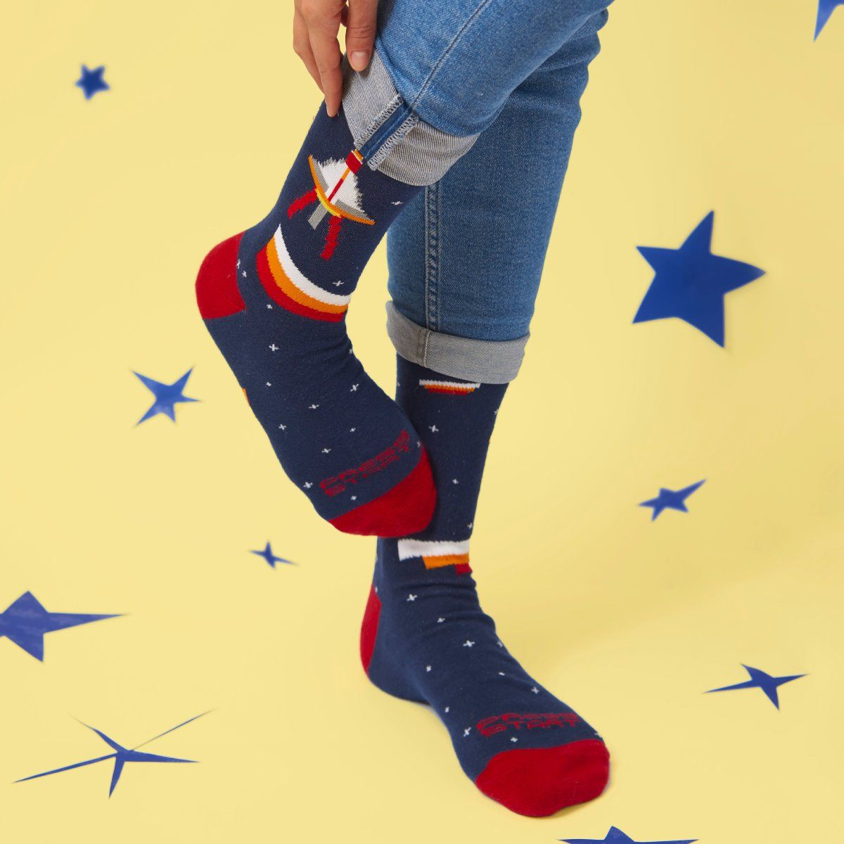 GAMES SOCKS ROCKET IN THE SPACE