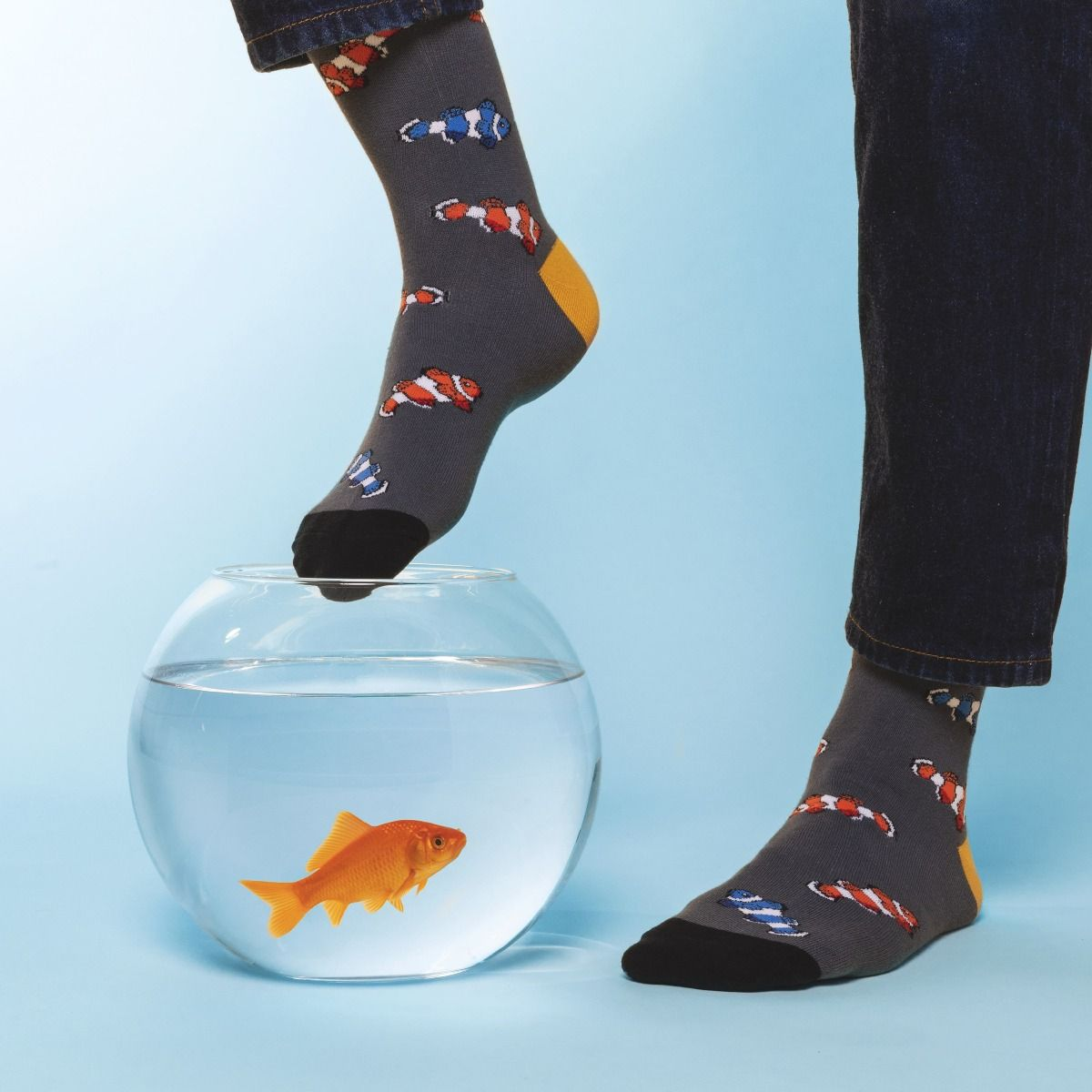 ANIMAL SOCKS RED FISH