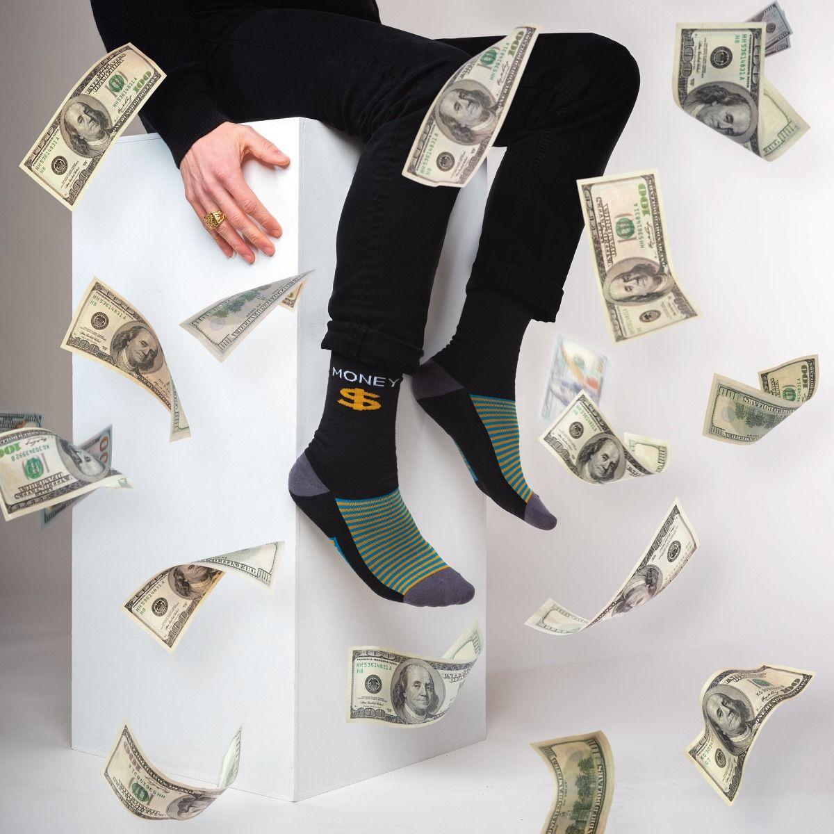 FUNNY SOCKS MONEY MONEY