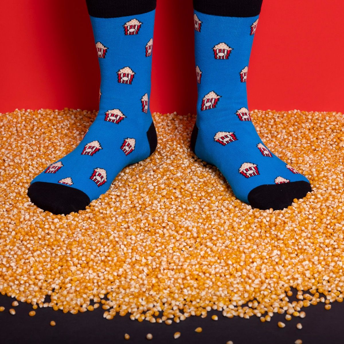 FOOD SOCKS POP-CORN